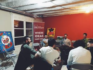 Cervezas emprendedoras en el coworking de Impact Hub Zaragoza