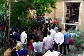 Evento en el jardín de Impact Hub Zaragoza